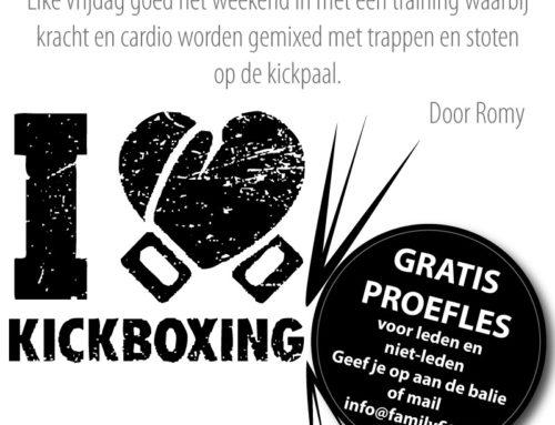 Mixed Kickbox op vrijdag 3 mei en vrijdag 10 mei